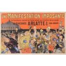 """Original Vintage French Alcohol Poster for """"Arlatte - Bleu Argent"""" Oge ca. 1900"""