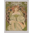 """Signed Lithograph """"Reverie"""" Daydream d'Apres A. Mucha 282/350"""