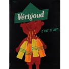 "Original Vintage French Poster  ""Verigoud"" Soft Drink by Savignac 1955"
