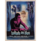 "Original Vintage French Movie Poster for ""Ray Charles - Ballade en Bleu"" Jazz Performer Music by Grinsson 1965"