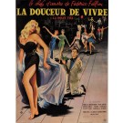 "Original Vintage French Movie Poster for ""La Dolce Vita"" Fellini Signed 1960"