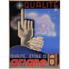 "Original Vintage French Poster for ""Qualite...Etoile d'ARIANE"" by De Loddere"