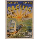 "Original Vintage French Poster for ""LE PACIFIC - Peinture Email"" ca. 1910"