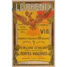 "Original Vintage French Poster for ""LE PHENIX"" Assurances Insurance ca. 1900"