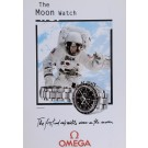 "Original Vintage Poster Advertising ""Omega Speedracer - Moon Watch"" 1990's"
