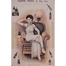"Original Vintage Chinese Poster for ""GANDE, PRICE & CO. LTD"" Spirits ca. 1934"