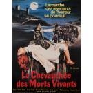 """Original Vintage French Movie Poster for """"LA CHEVAUCHÉE DES MORTS VIVANTS"""" 1980"""