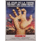 "Original Vintage French Movie Poster for ""PHASE IV."" by GIL COHEN ca. 1974"