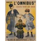 """Original Vintage French Poster """"Manchon l'Omnibus coiffe tous les becs"""" Bouisset"""