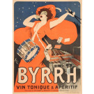 "Original Vintage French Alcohol Poster Advertising ""Byrrh"" by Grun 1907"