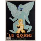 """Original Charlie Chaplin Movie Poster """"Le Gosse (The Kid)"""" by Jean Carlu 1921"""