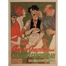 "Original Charlie Chaplin Movie Poster ""Charlot Garcon de Bar"" by Adrien Barrere"