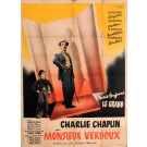 "Original Charlie Chaplin Movie Poster ""Monsieur Verdoux"" by V. Cristellys 1947"