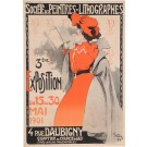 "Original Vintage French Poster ""Societe des Peintres - Lithographes"" by Grun.  1901"