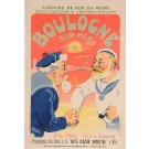 "Original Vintage French Poster ""Boulogne-Sur-Mer"" by Grun 1906"
