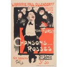 "Original Vintage French Poster ""Henry Fursy Chansons Rosses"" by Grun 1899"