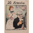 "Original Vintage French Poster for ""Le Sourire"" Magazine by Grun - January 1902"