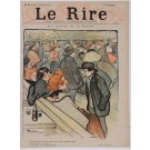 "Set of 3 Original Vintage French Poster for ""Le Rire"" Magazine by Steinlen ca. 1895"