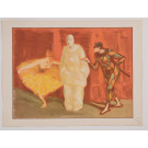 "Original French Litho ONLY L'Estampe Moderne N.16 ""Pantomime"" by H. G. Ibels"