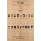 "RARE Original Framed Vintage Poster ""The Palestine Police Force - WANTED !"" February 1947"