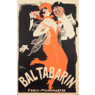 "Original Vintage French Poster ""Bal Tabarin"" by Grun 1904 - Rare Version"