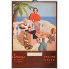 Original Vintage Italian TRAVEL Advertising Cardboard Poster - L'AMERICA 1940's