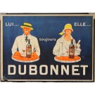 Original Vintage French Menu Holder advertising Dubonnet ca. 1930