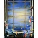 """Oil on Canvas Painting """"Blue Skies"""" by the renowned artist Ferjo"""