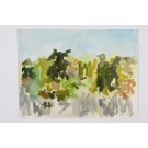 Original Signed Abstract Landscape by Robert Harms New York 1994