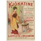 Vintage French Advertising Poster KJOKATINE LOTION & BRILLIANTINE