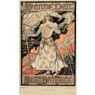 Les Affiches Illustrees Vintage ORIGINAL Antique Lithograph PRINT 1896 Jeanne Darc by Grasset