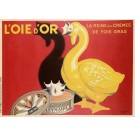 "Reprint Vintage Poster ""L'OIE d'OR"" by  Cappiello"