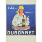 Double Sided Vintage Original French Advertising - DOUBONNET -  1927