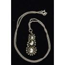 Artisan Ethnic 925 Sterling Silver Jerusalem Handmade Necklace early 50's