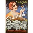 Original Vintage Italian Wine Advertising Poster -  G. Battista Comi Italy