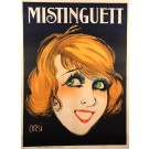 "Original Vintagee Classic French Poster ""Mistinguett"" by Orsi 1920's"