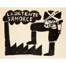 "Original French Poster  ""La Detente S'amorce"" from the Student Revolution of 68"