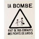 "French Student Revolution Poster ""LA BOMBE"""