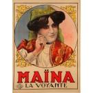 """Original Vintage French Poster """"Maina La Voyante"""" by Louis Galice ca. 1920"""