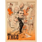 Original Vintage French Poster of Theo ca. 1900