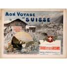 """Original Vintage Switzerland Travel Poster - """"Coire et Les Grisons"""" by V. Blatter"""