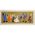 "Original Vintage Advertising Panel ""Children Playing Diabolo"" by Blandin"