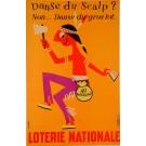 """Original Vintage Loterie Nationale Poster by Omnès """"Danse du Scalp"""" ca. 1960"""