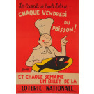 Original Vintage Loterie Nationale Poster by Grum ca.1960