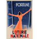 "Original Vintage Loterie Nationale Poster ""Fortune"" by Herve' Baille"