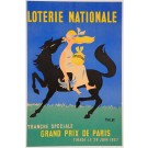 """Original VintageFrench Advertising Poster """"Loterie Nationale"""" Philde 1957"""