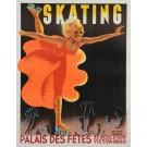 Advertising Poster for Skating at Palais des Fêtes