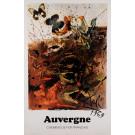 "Original Vintage French Poster Chemins de fer français ""Auvergne"" by DALI 1969"