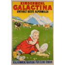 "Original Vintage Swiss Poster ""Galactina"" Children Flour ca. 1930"