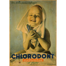 """Original Vintage Italian Poster for """"Chlorodont"""" Tooth Paste by BOCASSILE 1950's"""